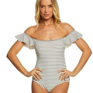 Vince Camuto Ruffled One Piece Swimsuit